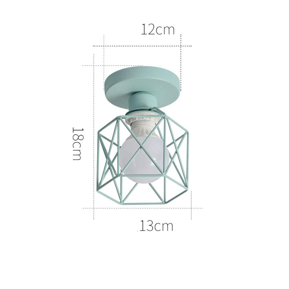 Ceiling Lamp, Wrought Iron Wooden European Living Room Bedroom Ceiling Lamp Modern Minimalist Corridor Stair Light