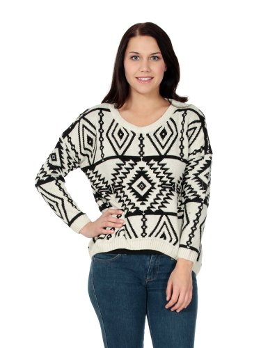 Simplicity Women's Christmas Reindeer Snowflakes Jumper Sweater Pullover Cardigan by Simplicity