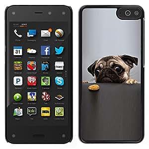 LECELL--Funda protectora / Cubierta / Piel For Amazon Fire Phone -- Pug arrugado divertidos Ojos perros pequeños --