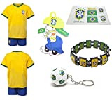 download ebook isport gifts® brazil home no name / neymar #11 kids soccer jersey and soccer shorts 6 in 1 soccer fan gift kit youth sizes ys / ym / yl *flash sale* (youth large 10-13 years old, no name or number) pdf epub