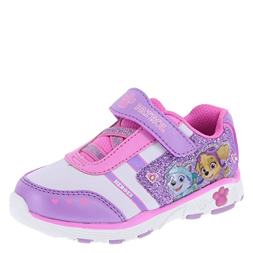 Paw Patrol Nickelodeon Girl's Purple Girls' Toddler Lighted Runner Little Kid Size 11 Regular