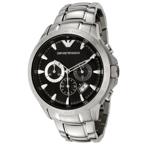 Emporio Armani Men's Quartz Stainless Steel Casual Watch, Color:Silver-Toned (Model: AR0636)