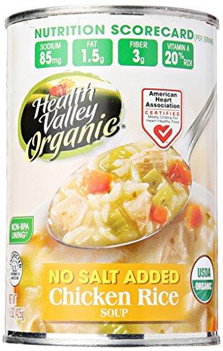 Health Valley No Salt Added Organic Chicken Rice Soup, 15 oz