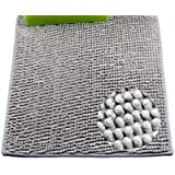 IUBUZOL Cat Litter Mat Soft, Waterproof, Machine Washable, Trapper Rug - Litter Box Mat,Multifunctional Mat. No More Messy Floors! (23W x 35L, Gray)