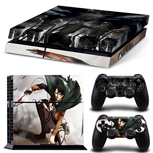 EBTY-Dreams Inc. – Sony Playstation 4 (PS4) – Shingeki no Kyojin Attack on Titan Anime Levi Squad Rivaille Ackerman Vinyl Skin Sticker Decal Protector