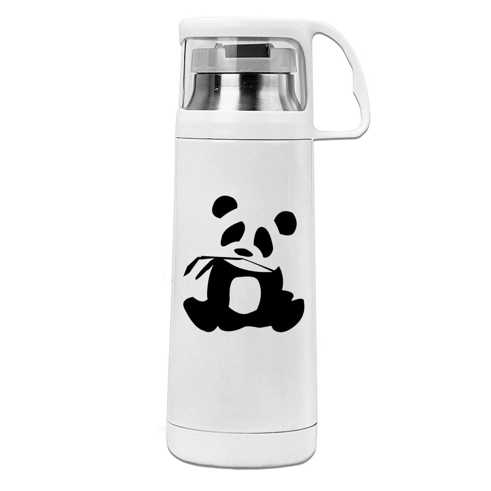 Handson Stainless Steel Vacuum Insulated Insulation Cup Panda Is My Sprit Animal Insulated Travel Coffee Mug White 14oz/350ml
