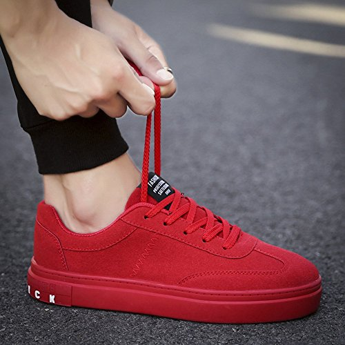 Men's Shoes Feifei Leisure Spring and Autumn Movement Fashion Plate Shoes 3 Colors (Size Multiple Choice) Red zxLOw