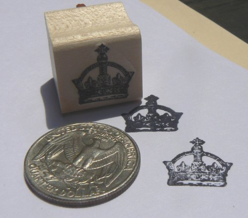 Royal Rubber Stamp - Miniature royal crown Rubber Stamp Wm P24