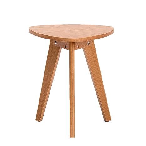 Amazon.com: XBBZ - Mesa de madera maciza pequeña triangular ...