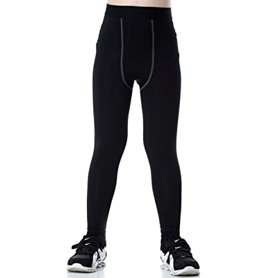 Lanbaosi Boys & Girls Sports Thermal Compression Base Layer Legging/Tights