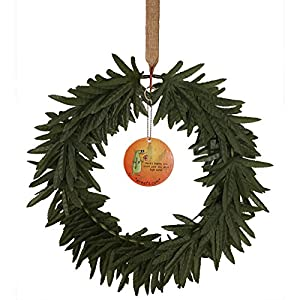Wreefs Decorative Artificial Marijuana Weed Wreath - 420 Friendly Marijuana Decor, Cannabis & Stoner Gifts, Advocacy Events, 420 Parties, Adult Gifts, Pothead Gifts - 12 inch Diameter 30