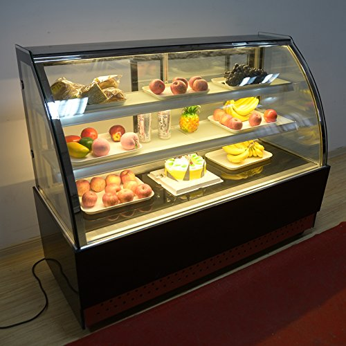 Commercial Countertop Refrigerated Cake Showcase 220V 3 Layer Glass Air-cooled 210075