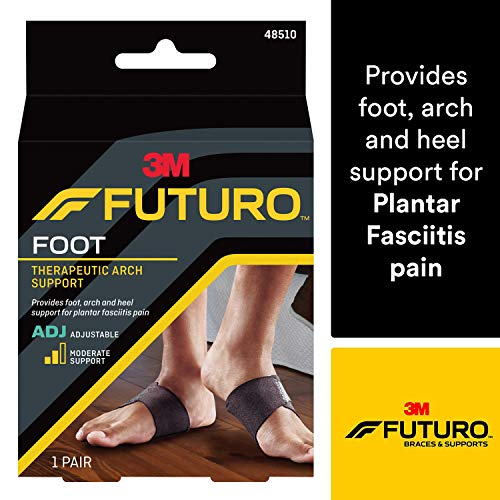 Leg Beige Right Toe Med (Futuro Therapeutic Arch Support, Helps Relieve Symptoms of Plantar Fasciitis, 48510EN, Adjustable, Satisfaction Guaranteed)