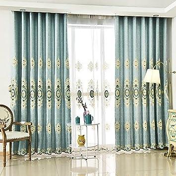 deux panneaux de broderie artisanale salon salle manger chambre rideau w72 x l63 inch