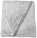 De Moocci Frosted Tip Fluffy Oversized Throw 60''x70'', Super Soft and Cozy - Grey