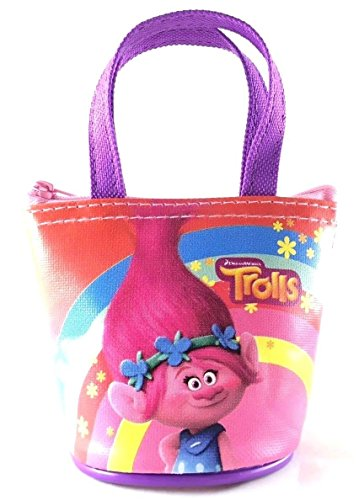"Party Favors Dreamworks Trolls Poppy 4"" Family Small Handbag/Purse/Wallet-Pink"