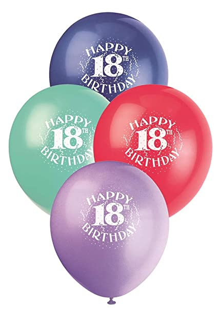 12quot Latex Happy 18th Birthday Balloons