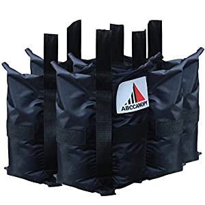 Heavy Duty Abccanopy Premium Instant Shelters Weight Bags - Set of 4 - 40lb Capacity Per Bag from AbcCanopy