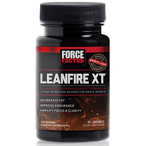Force Factor LeanFire XT Thermogenic Fat Burner Weight Loss Supplement with Clear Energy, 30 Count