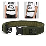 Yahill Safety Security Tactical Belt Combat Gear Adjustable Heavy Duty Police Equipment Accessories for Sports Outdoor (Army Green-Promoted)