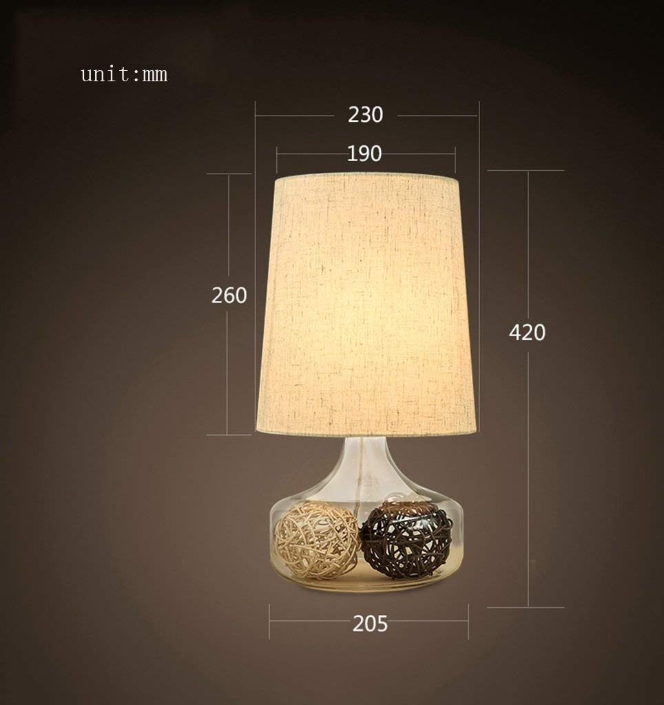 Iron Table Lamp, European Style Living Room Bedroom Bedside Home Decoration Cloth Shade Neoclassical American Table Lamp Power Switch Button High 420Mm Energy Saving and Environmental Protecti, Chua ChuanHan