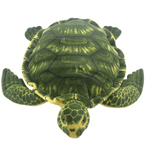 TAGLN Lifelike Giant Plush Toys Tortoise Pillow Large Realistic Stuffed Animals Green Sea Turtle 28 -