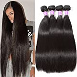 Flady Malaysian Hair 4 Bundles 8A Virgin Unprocessed Straight Human Hair 18 20 22 24inch Malaysian Straight Hair Natural Black Color