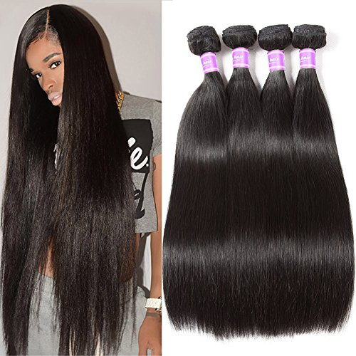 Flady Malaysian Hair 4 Bundles 8A Virgin Unprocessed Straight Human Hair 18 20 22 24inch Malaysian Straight Hair Natural Black Color by Flady