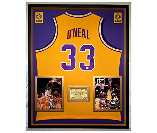 2403aab4c Premium Framed Shaquille O Neal Autographed Signed LSU Tigers Jersey - JSA  COA - Shaq Oneal