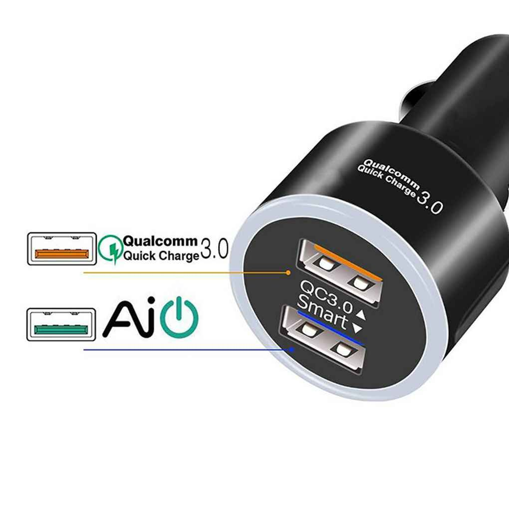 Luckiests Voiture Double Chargeur USB Allume-Cigare Chargeur Automatique 12V DC Double Socket 2 Ports USB Chargeur Allume-Cigare Socket