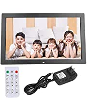 18'' Digital Picture Frame, Digital Photo Frame 1366 * 768 Large HD Screen with Remote Control 1080P Video/Music/Photo/Alarm Clock/Calendar/Movie Player Built-in Dual Speakers (16:9) (Black)
