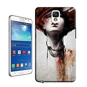 Woman portrait digital art mixed media painting design creative dramatic top quality Samsung Galaxy Note 3 case for sale by LeTian Case