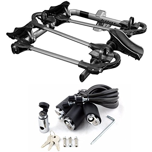 Kuat Transfer Universal 2 Bike Hitch Mount, Universal Bicycle PerfectFit, with Transfer Cable Lock Kit ()