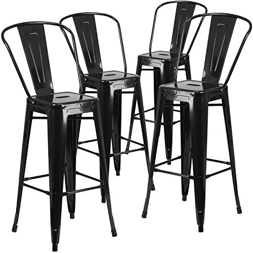 High Back Bar Stools - 5