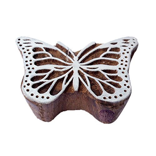Butterfly Wooden Stamp (Creative Butterfly Insect Pattern Wood Print Textile Stamp)