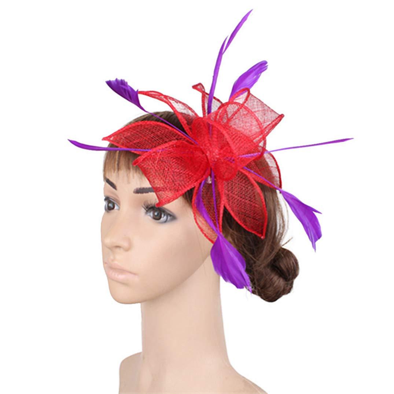 KRASTAL Fascinators Hat for Women Cocktail Tea Party Fashion Headwear Women Girls Wedding Mesh Fedroa