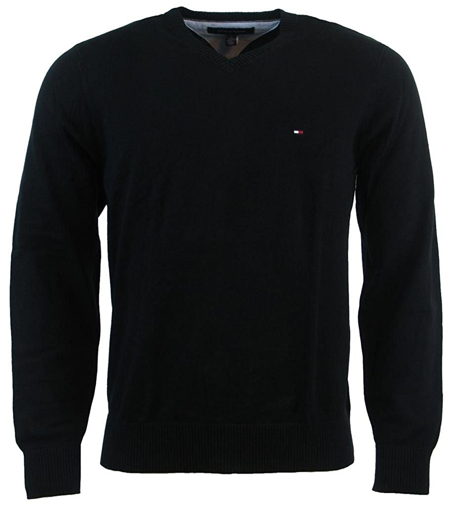 da3ae5033b Tommy Hilfiger Men s V-Neck Long Sleeve Pacific Pullover Sweater at Amazon  Men s Clothing store