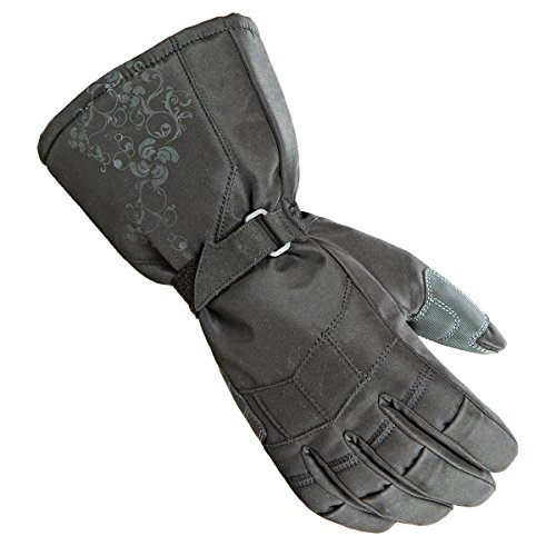 Joe Rocket Sub Zero Women's Textile Street Bike Racing Motorcycle Gloves - Black / (Women Street Bike Apparel)