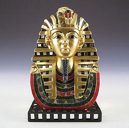 Antigua máscara de faraón egipcio rey Tut Busto Estatua Figura Decoración de Tutankamón Premium Home D