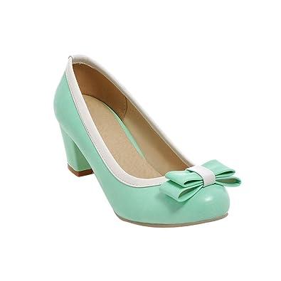 Mee Shoes Damen chunky heels Geschlossen spitz Pumps  34 EURot