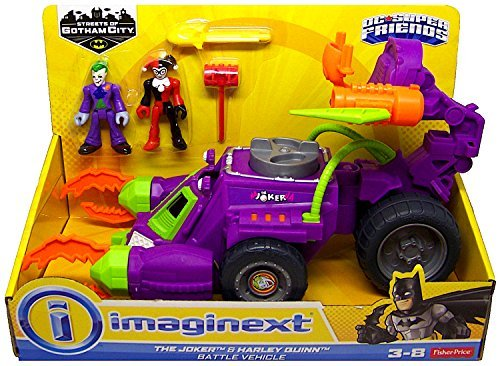 The Joker & Harley Quinn Battle Vehicle DC Super Friends Streets of Gotham City Imaginext