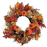 "Nahuaa 20"" Fall Wreath for Front Door Artificial"
