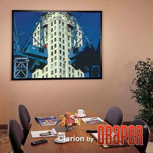 "UPC 641092149873, ShadowBox Clarion Matt White Fixed Frame Projection Screen Viewing Area: 99"" H x 99"" W"