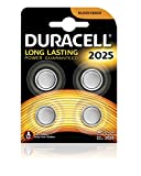 Duracell Specialty Type 2025 Lithium Coin Battery, Pack of 4
