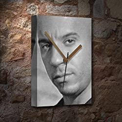 VIN DIESEL - Canvas Clock (LARGE A3 - Signed by the Artist) #js002