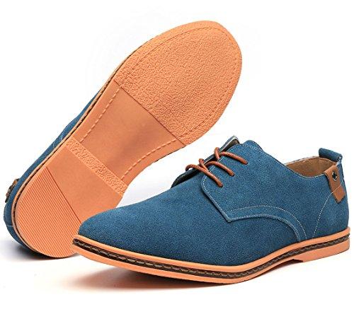 Dadawen Men's Green Leather Oxford Shoe – 10.5 D(M) US