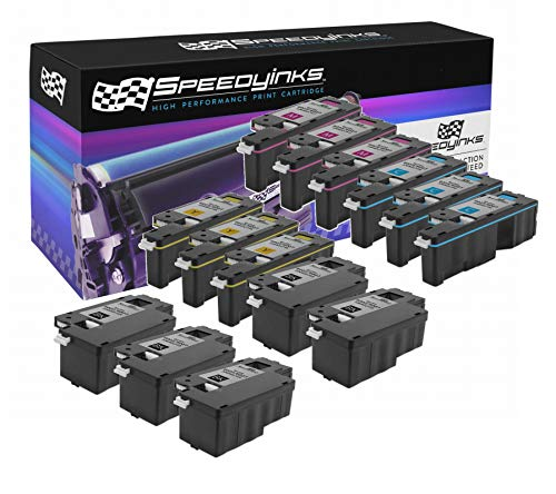 Speedy Inks Compatible Toner Cartridge Replacement for Xerox Phaser 6022 & WorkCentre 6027 (5 Black 3 Cyan, 3 Magenta, 3 Yellow, 14-Pack) ()