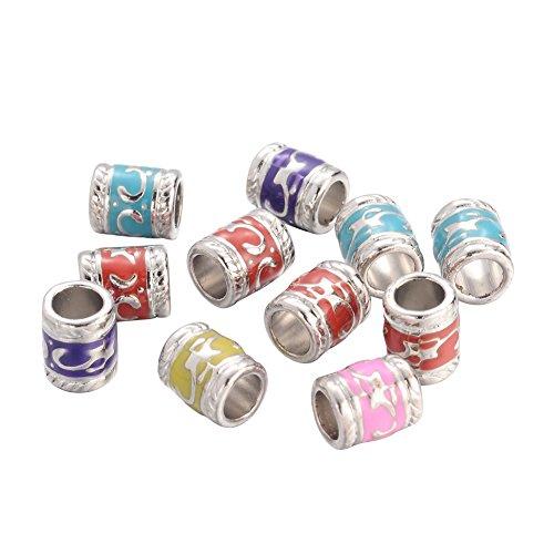 Enamel Tube Beads - 9