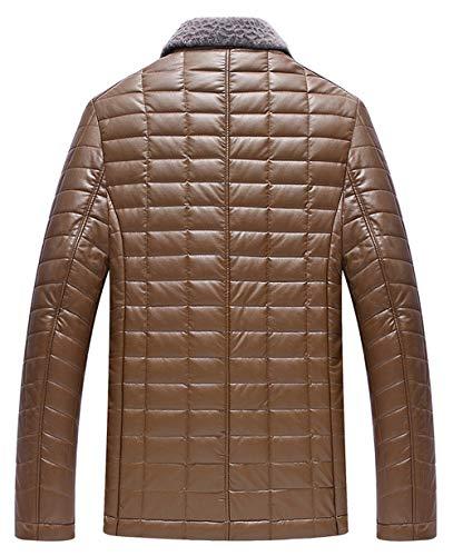 Fit De Biker Hommes Manteau Rouge Blouson Grade Blazer Pu Veste Vine Jacket Cuir Manteaux D'agneau Chaude Laine Outwear Homme Fourrure Bomber Slim 5wqqIp
