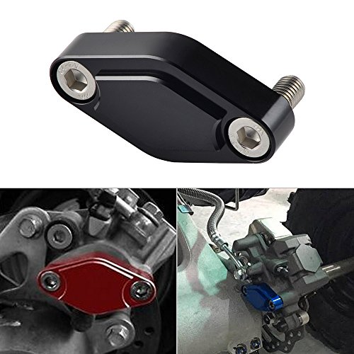 - NICECNC Black CNC ATV Parking Brake Block Off Plate for Raptor 125,250,350,660,700,YFZ450/450R/X,Warrior 350,Banshee 350,TRX 450R/400EX/300EX,LTZ 400/LTR 450,KFX 400/450